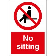 No Sitting Signs