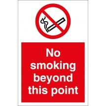 No Smoking Beyond This Point Signs