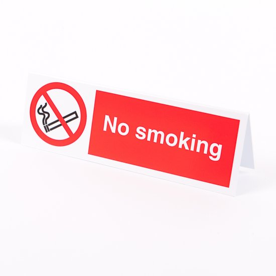 No Smoking Desktop Signs