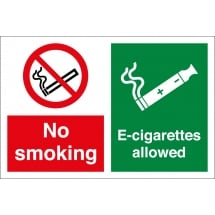 No Smoking Electronic Cigarettes Allowed Signs