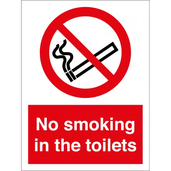 No Smoking In The Toilets Signs