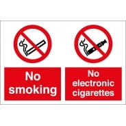 No Smoking No Electronic Cigarettes Signs