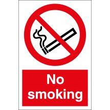 No Smoking Signs