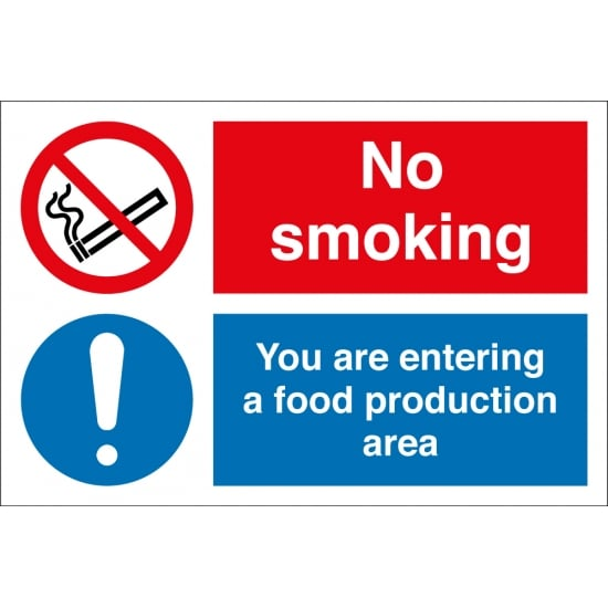No Smoking You Are Entering A Food Production Area Signs