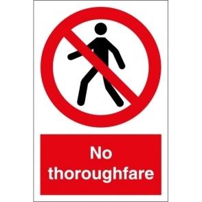 No Thoroughfare Signs