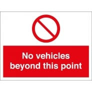 No Vehicles Beyond This Point Signs