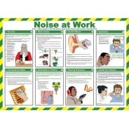 Noise At Work Safety Posters 590mm x 420mm