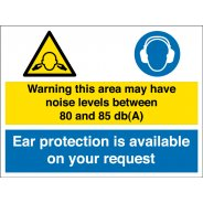 Noise Levels Between 80 and 85db Signs