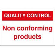 Non Conforming Products Signs