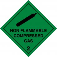 Non Flammable Compressed Gas 2 Labels