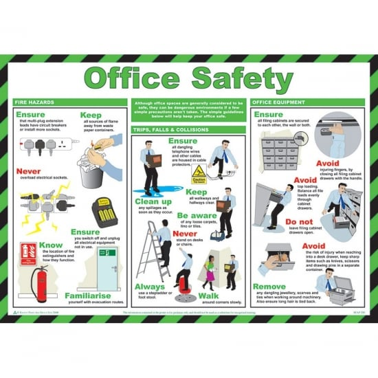 Office Safety Posters 590mm x 420mm