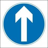 One Way Directional Arrow Signs