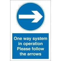 One Way System In Operation Arrow Right Signs