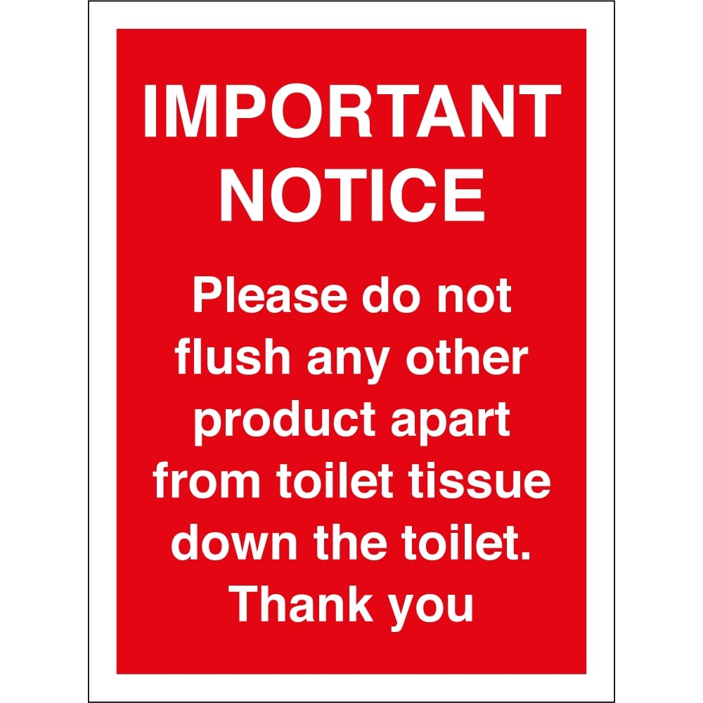 only flush toilet tissue signs from key signs uk