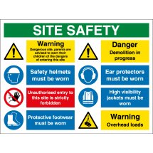 Overhead Loads Site Safety Signs