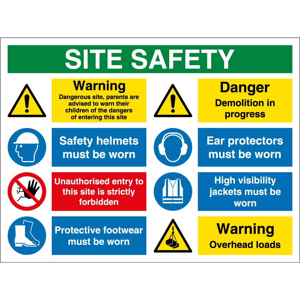 Overhead Loads Site Safety Signs From Key Signs Uk