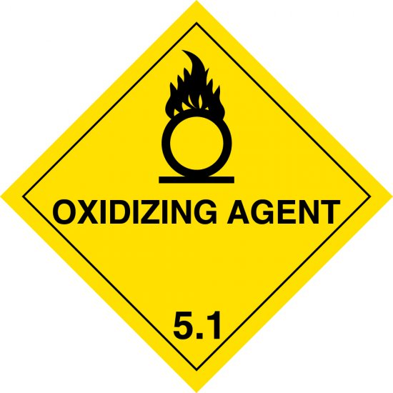 Oxidizing Agent 5.1 Labels