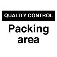 Packing Area Signs