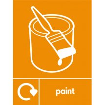 Paint Waste Recycling Signs