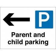 Parent And Child Parking Arrow Left Signs