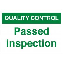 Passed Inspection Signs