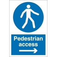 Pedestrian Access Arrow Right Signs