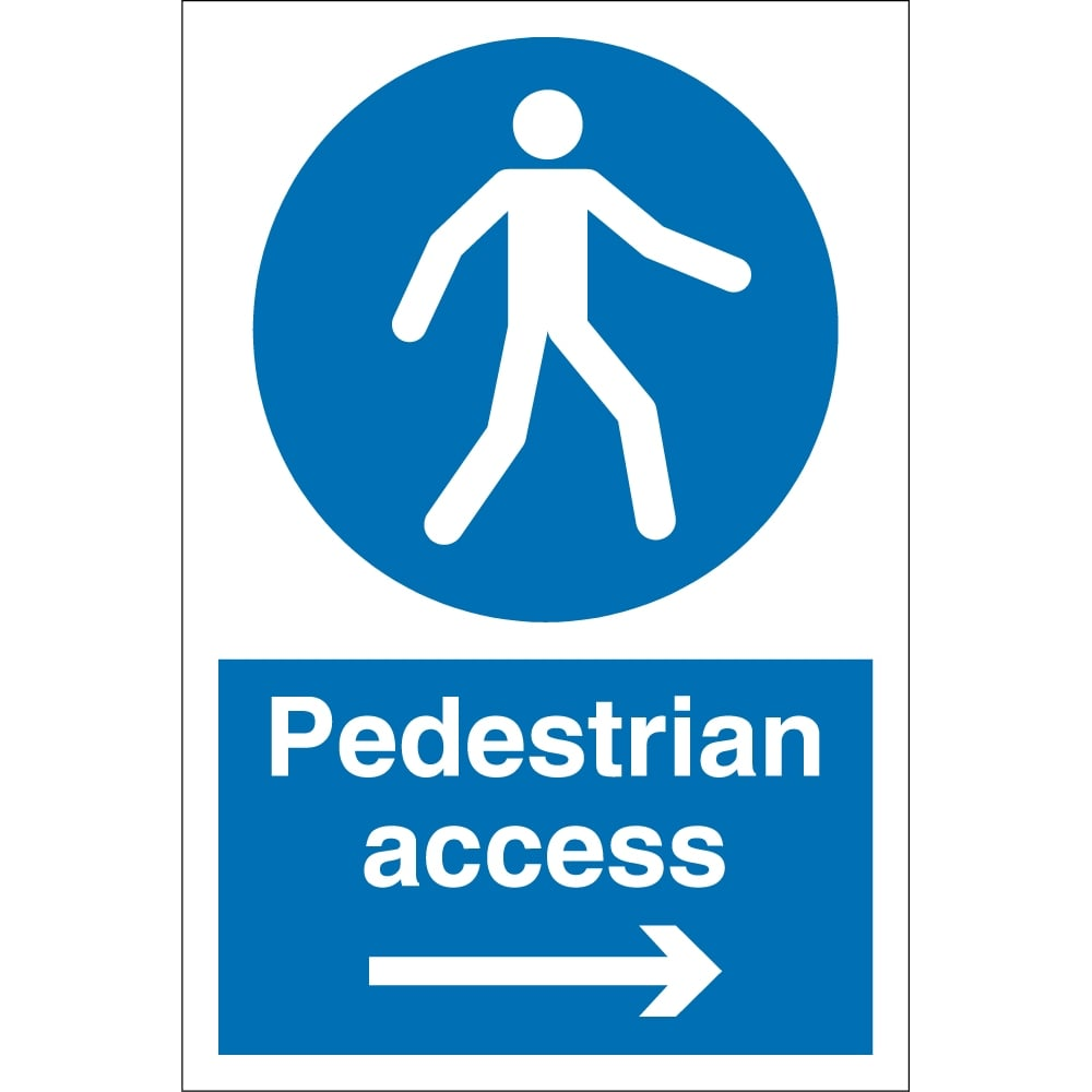Pedestrian Access Arrow Right Signs From Key Signs Uk