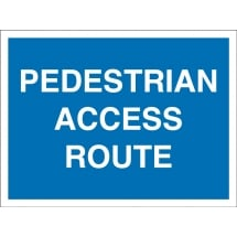 Pedestrian Access Route Signs