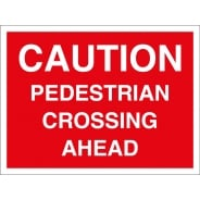 Pedestrian Crossing Ahead Signs
