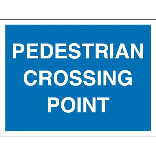 Pedestrian Crossing Point Signs