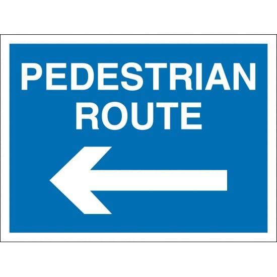 Pedestrian Route Arrow Left Signs