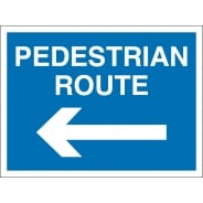 Pedestrian Route Arrow Left Signs