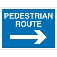 Pedestrian Route Arrow Right Signs