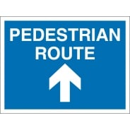 Pedestrian Route Arrow Up Signs