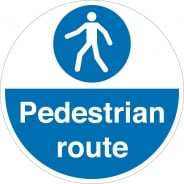 Pedestrian Route Floor Signs