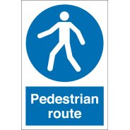 Pedestrian Route Signs