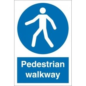 Pedestrian Walkway Signs