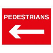 Pedestrians Arrow Left Signs