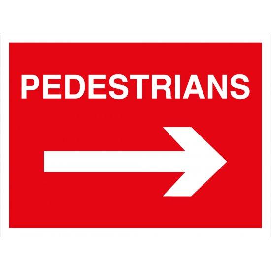 Pedestrians Arrow Right Signs