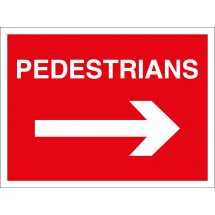 Pedestrians Arrow Right Signs