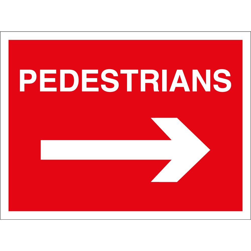 pedestrians arrow right signs from key signs uk