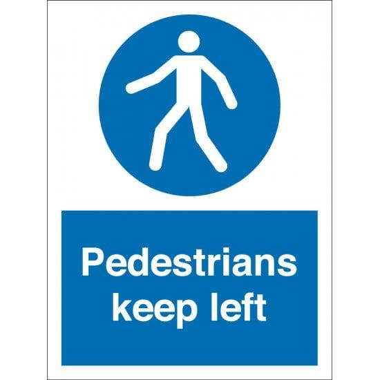 Pedestrians Keep Left Signs