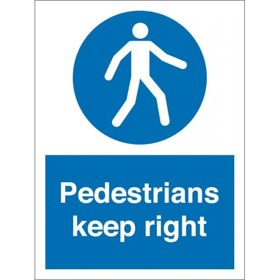 Pedestrians Keep Right Signs