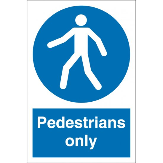 Pedestrians Only Signs