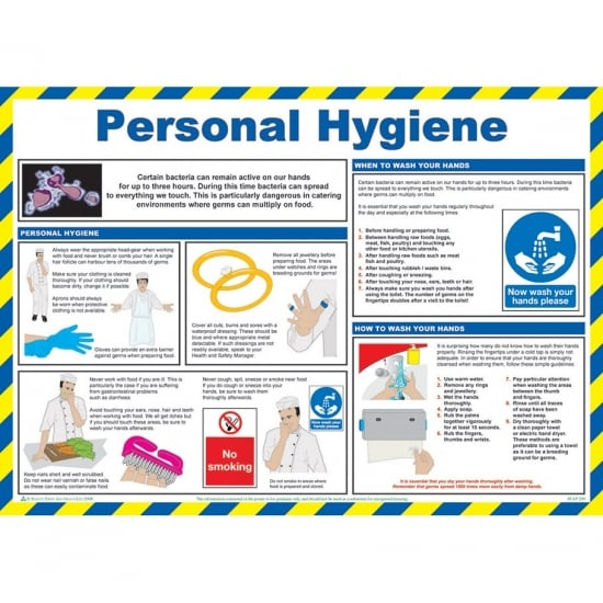 Personal Hygiene Safety Posters 590mm x 420mm