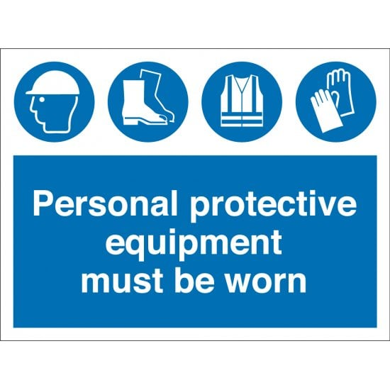 Personal Protective Equipment Must Be Worn Signs