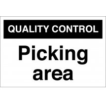 Picking Area Signs