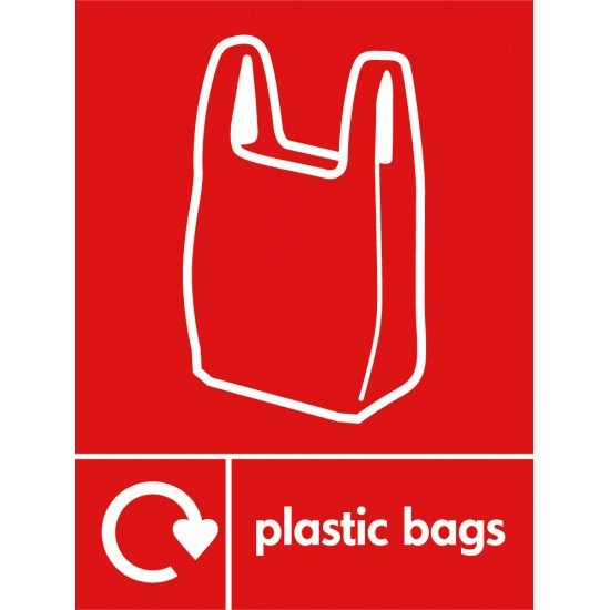 Plastic Bags Recycling Signs
