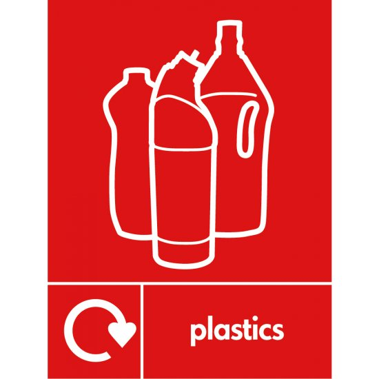 Plastics Waste Recycling Signs