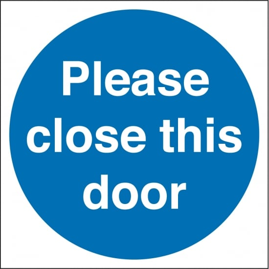 Please Close This Door Signs